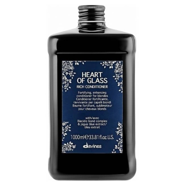 Heart of Glass Rich Conditioner Šviesius plaukus maitinantis kondicionierius, 1000ml
