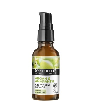 Dr Scheller  Argan & Amaranth Anti-Wrinkle Face Oil Maitinamasis veido aliejus, 30ml | inbeauty.lt