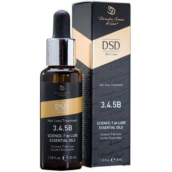 Science-7 De Luxe Essential Oils Eteriniai aliejai nuo plaukų slinkimo DSD3.4.5B, 35 ml