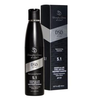 DSD de luxe Steel And Silk DSD5.1 Intensyvus šampūnas su šilku, 200 ml | inbeauty.lt