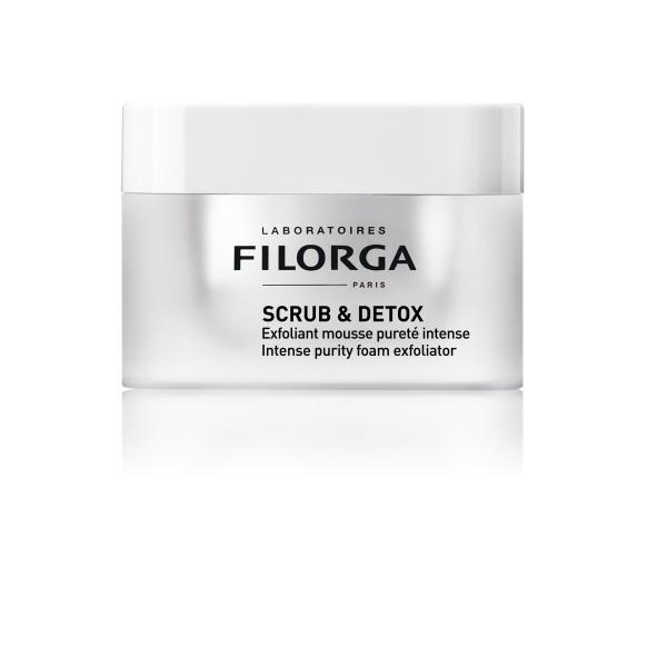 Scrub & Detox Intense Purify Foam Exfoliator Dvigubo poveikio detoksikuojantis veido šveitiklis, 50ml