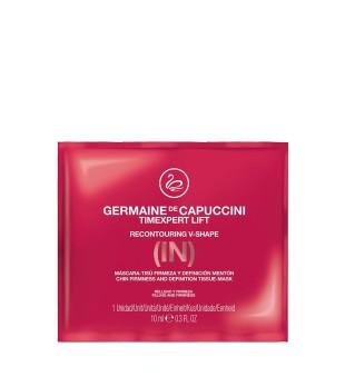 Germaine de Capuccini Timexpert LIFT(IN) Recontouring V-Shape Mask Lakštinė kaklo kaukė, 2vnt   inbeauty.lt