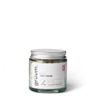 Grüum blöta Salt Soak Lavender & Chamomile Vonios druska, 120g | inbeauty.lt