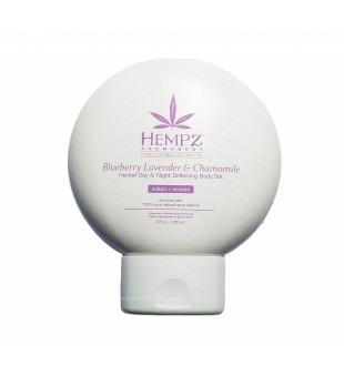 HEMPZ Blueberry Lavender & Chamomile Herbal Body Silk Drėkinamasis kremas veidui ir kūnui, 250ml | inbeauty.lt