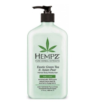 HEMPZ Exotic Green Tea & Asian Pear Herbal Body Moisturizer Drėkinamasis kūno kremas, 500ml | inbeauty.lt