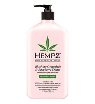HEMPZ Blushing Grapefruit & Raspberrry Herbal Body Moisturizer Drėkinamasis kūno kremas, 500ml   inbeauty.lt