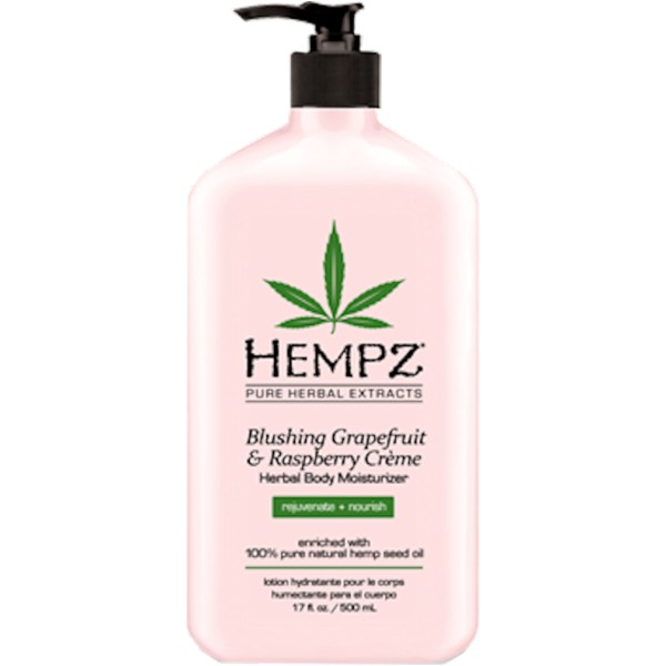 Blushing Grapefruit & Raspberrry Herbal Body Moisturizer Drėkinamasis kūno kremas, 500ml