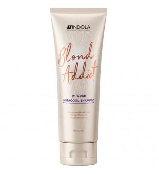 Indola Blond Addict Insta Cool Šalto tono šampūnas šviesiaplaukėms, 250ml   inbeauty.lt