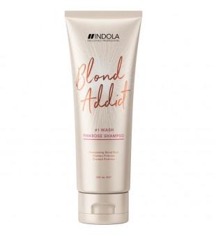 Indola Blond Addict Pink Rose Shampoo Rausvo atspalvio šampūnas, 250ml   inbeauty.lt