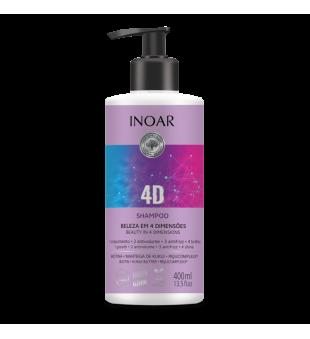 Inoar 4D Shampoo Maitinamasis šampūnas, 400ml | inbeauty.lt