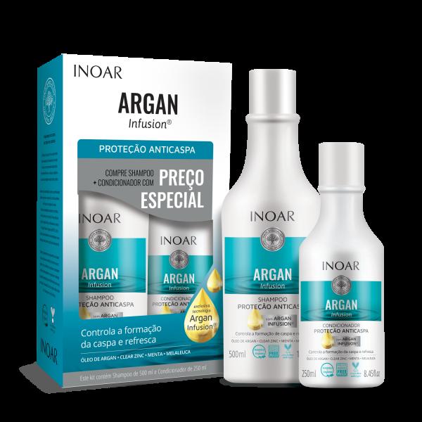 Argan Infusion Anti-Dandruff Protection Duo Kit Plaukų priežiūros rinkinys nuo pleiskanų, 500+250ml