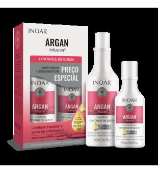 Inoar Argan Infusion Loss Control Duo Kit Rinkinys slenkantiems plaukams, 500ml + 250ml | inbeauty.lt