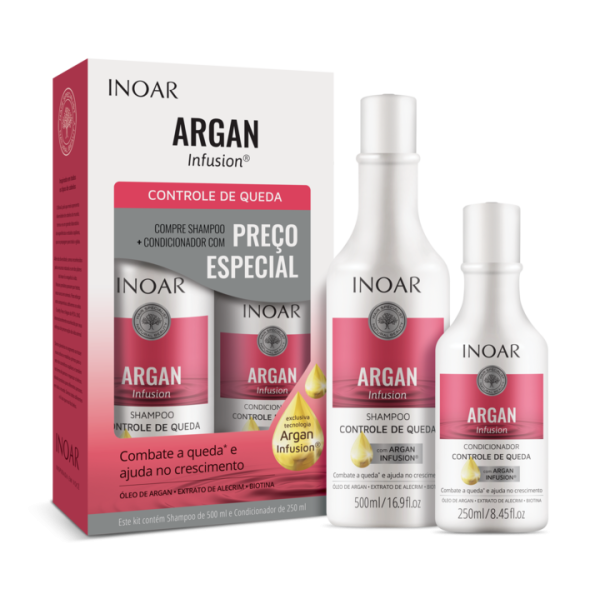 Argan Infusion Loss Control Duo Kit Rinkinys slenkantiems plaukams, 500ml + 250ml