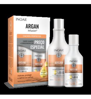 Inoar Argan Infusion Perfect Curl Duo Kit Rinkinys garbanotiems plaukams, 500+250ml | inbeauty.lt