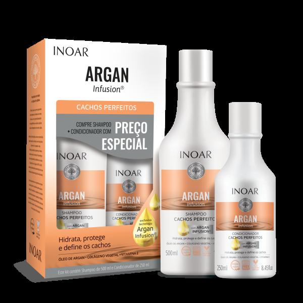 Argan Infusion Perfect Curl Duo Kit Rinkinys garbanotiems plaukams, 500+250ml
