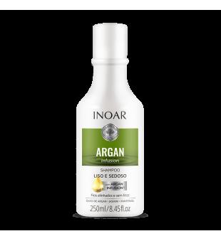 Inoar Argan Infusion Smooth And Silky Shampoo Glotninamasis šampūnas, 250ml | inbeauty.lt