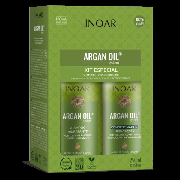 Argan Oil Duo Kit Sausų-pažeistų plaukų rinkinys, 2×250 ml