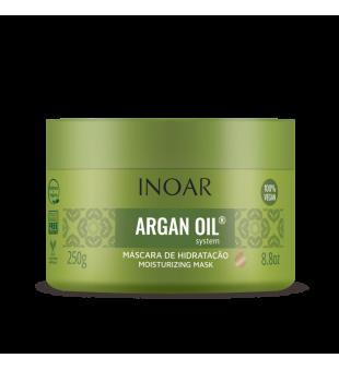 Inoar Argan Oil Mask Sausų-pažeistų plaukų kaukė, 250 g | inbeauty.lt