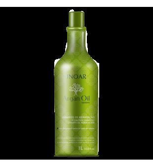 Inoar Argan Oil Sausų-pažeistų plaukų šampūnas, 1000ml | inbeauty.lt