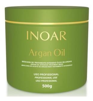 Inoar Argan Oil Mask Sausų-pažeistų plaukų kaukė, 500 g | inbeauty.lt