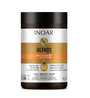 Inoar Blends Styling Cream Plaukų formavimo kremas su vitaminu C, 1000g | inbeauty.lt