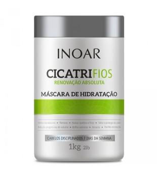 Inoar Cicatrifios Mask Plauko struktūrą atkurianti kaukė, 1000g | inbeauty.lt