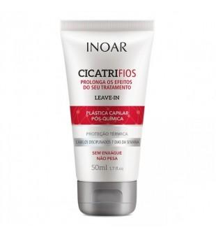 Inoar Cicatrifios Plastica Capilar Leave-In (red) Nenuskalaujamas balzamas nuo karščio storiems plaukams, 50ml | inbeauty.lt