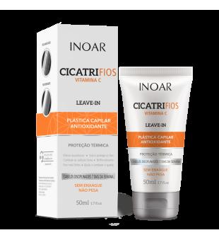 Inoar Cicatrifios Vitamin C Leave-In Balm Nenuplaunamas balzamas su vitaminu C, 50ml | inbeauty.lt