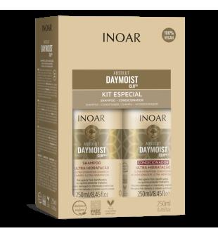 Inoar Absolut Daymoist Duo Kit Atstatomasis-drėkinamasis rinkinys plaukams, 2x250 ml | inbeauty.lt