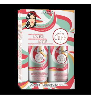 Inoar  Divine Curls Duo Kit Garbanotų plaukų rinkinys, 2x250 ml | inbeauty.lt