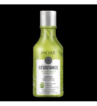Inoar Resistance Fibra de Bambu Shampoo Plaukus stiprinantis šampūnas, 250ml   inbeauty.lt