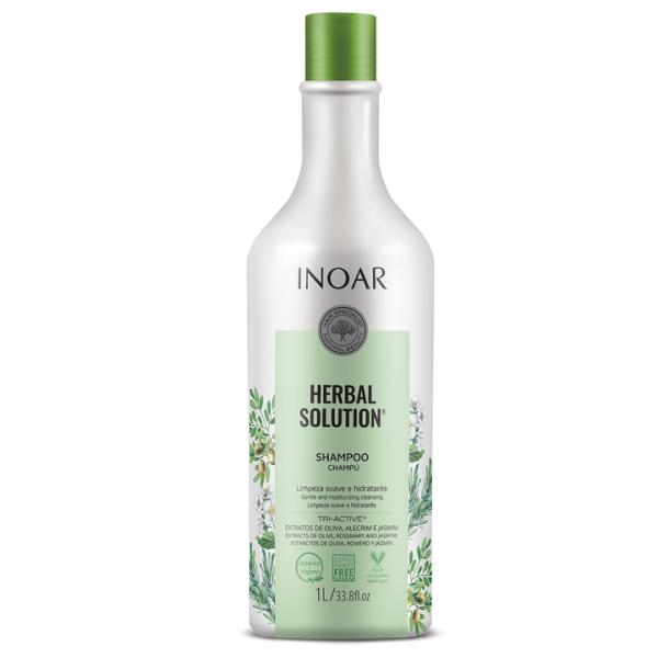 Herbal Solution Shampoo Šampūnas su alyvuogių, jazminų ir rozmarinų ekstraktu, 1000ml