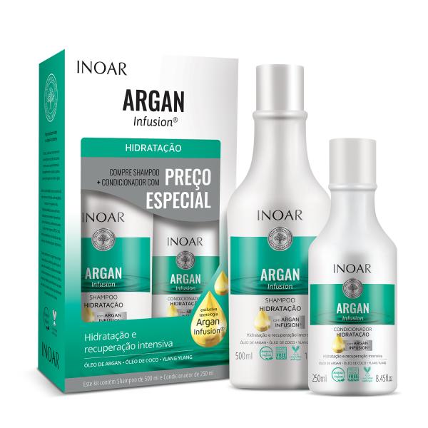 Argan Infusion Hydrating Duo Kit Drėkinamųjų priemonių rinkinys plaukams, 500+250ml