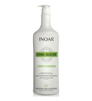 Inoar Herbal Solution Conditioner Kondicionierius su alyvuogių, rozmarinų ir jazminų ekstraktu, 1000 ml | inbeauty.lt