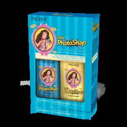 Photoshop Duo Kit Blizgesio suteikiantis rinkinys plaukams su keratinu, 2x250 ml