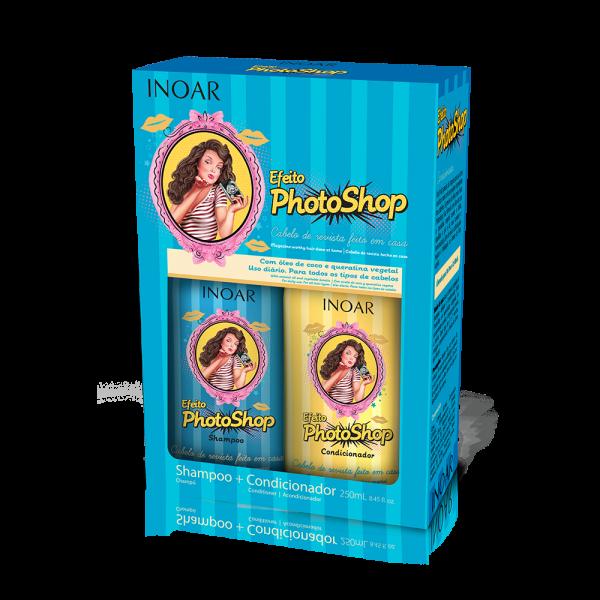 Photoshop Duo Kit Blizgesio suteikiantis rinkinys plaukams su keratinu, 2×250 ml