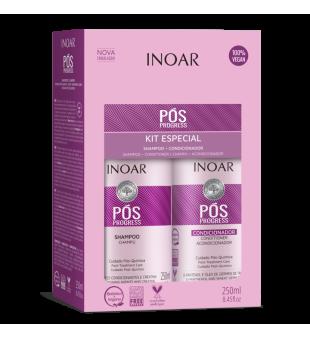 Inoar Pos Progress Duo Kit Rinkinys po tiesinimo keratinu ir BotoHAIR procedūrų, 2x250 ml | inbeauty.lt