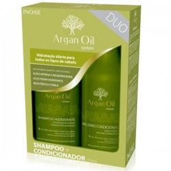Rinkinys: drėkinantis šampūnas ir kondicionierius Kit Duo Argan Hidr., 2x250 ml