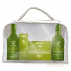 Rinkinys efektyviai plaukų priežiūrai namuose Kit Argan Home Care, 4x250 ml