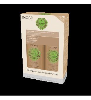 Inoar Macadamia Kit Duo Maitinamasis-stiprinamasis rinkinys plaukams, 2x250 ml | inbeauty.lt