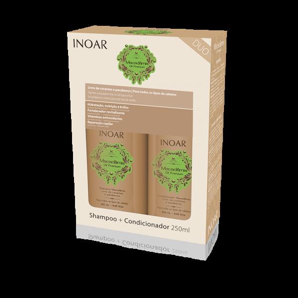 Macadamia Kit Duo Maitinamasis-stiprinamasis rinkinys plaukams, 2×250 ml