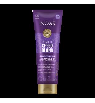 Inoar Speed Blond Shampoo Pilkinantis, spalvą koreguojantis šampūnas, 240 ml | inbeauty.lt