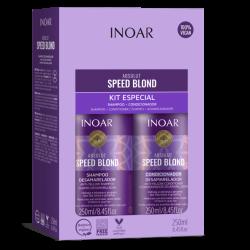 Speed Blond Duo Kit Pilkinantis, drėkinantis rinkinys šviesiems plaukams,  2x250 ml