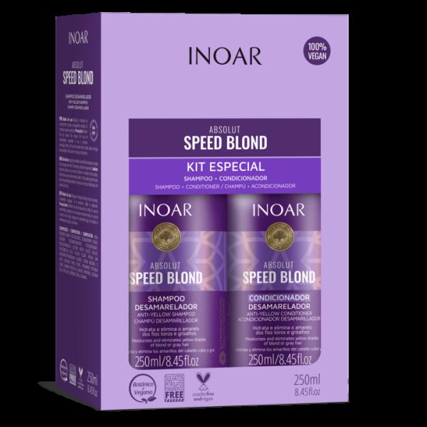 Speed Blond Duo Kit Pilkinantis, drėkinantis rinkinys šviesiems plaukams,  2×250 ml