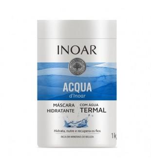 Inoar Aqua Thermal Mask Atkuriamoji plaukų kaukė, 1000g | inbeauty.lt
