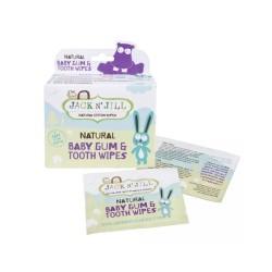 Baby Gum & Tooth Wipes Natūralios dantukų ir dantenų servetėlės su ksilitoliu, 25vnt