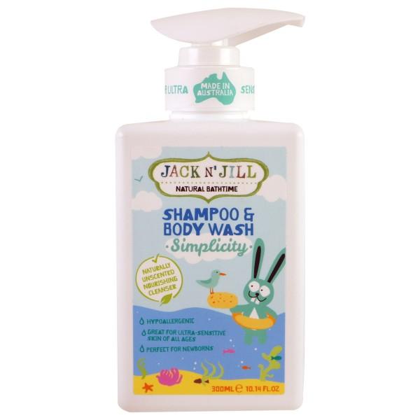 Simplicity Shampoo & Bodywash Šampūnas ir kūno prausiklis vaikams, 300ml