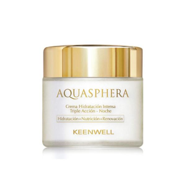Aquasphera Triple Action Night Cream Trejopo poveikio intensyviai drėkinantis naktinis kremas, 80ml