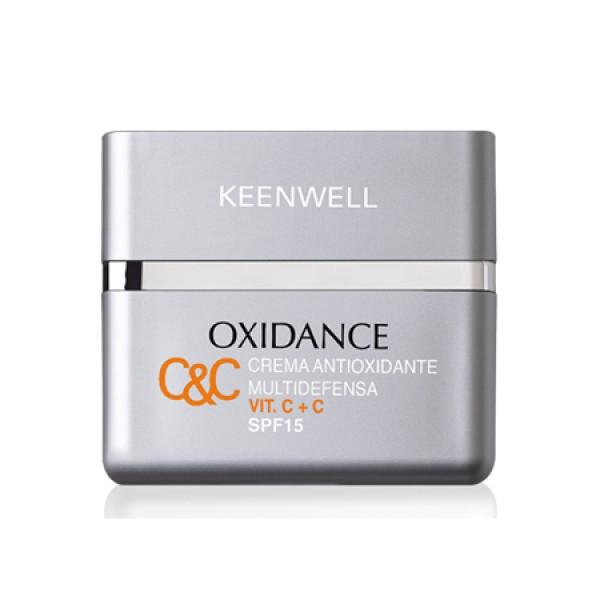 Oxidance Antioxidant Multidefence Day Cream SPF15 Dieninis veido kremas su vitaminu C, 50ml