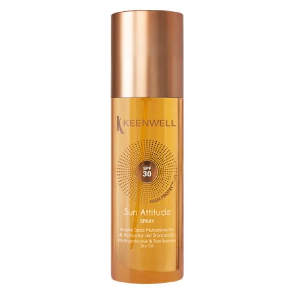 Sun Attitude Dry Oil Spray SPF30 Apsauginis, įdegį skatinantis sausas aliejus kūnui, 150ml